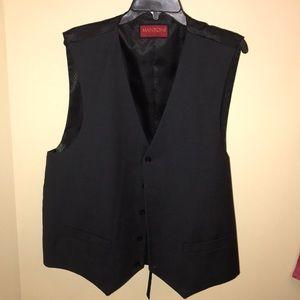 Black Wool Vest -Mens 50R